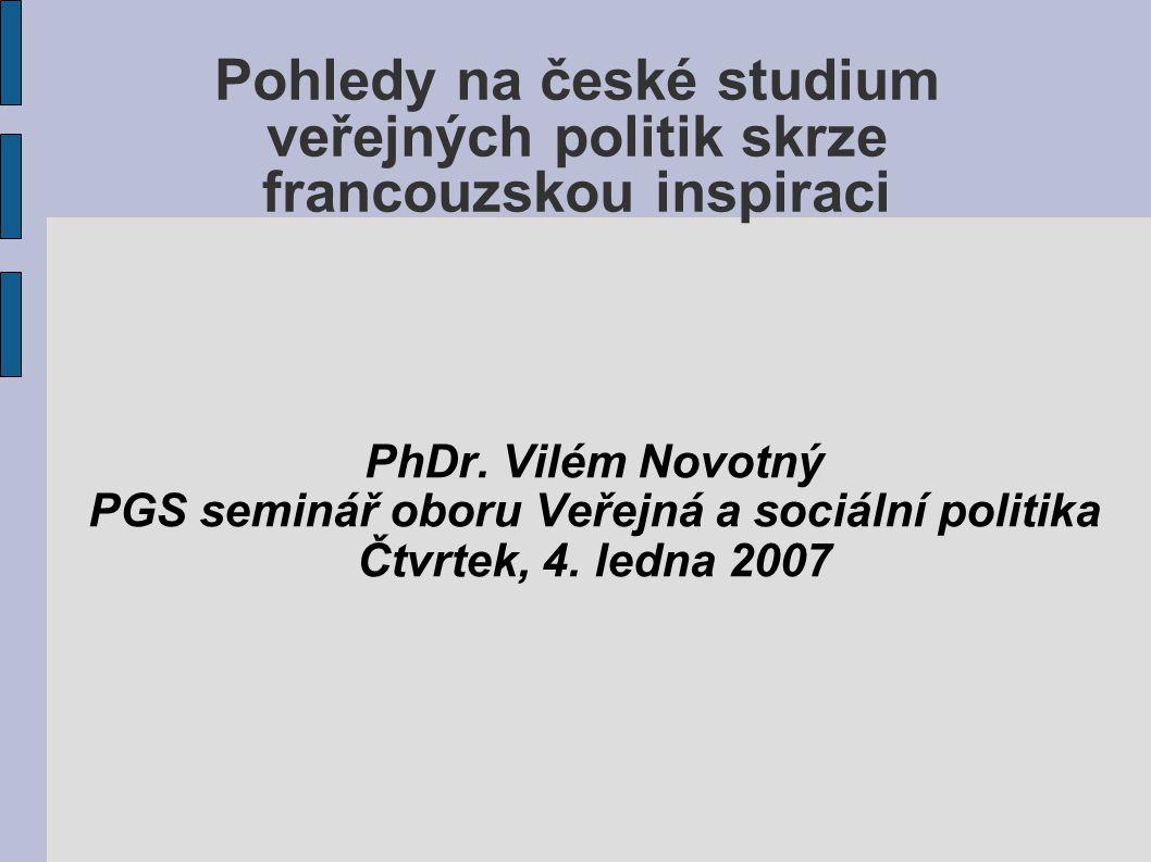 PGS seminář oboru Veřejná a sociální politika