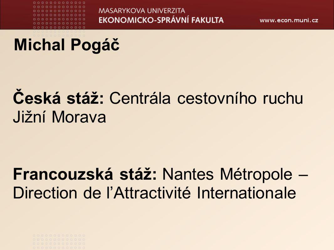 Česká stáž: Centrála cestovního ruchu Jižní Morava