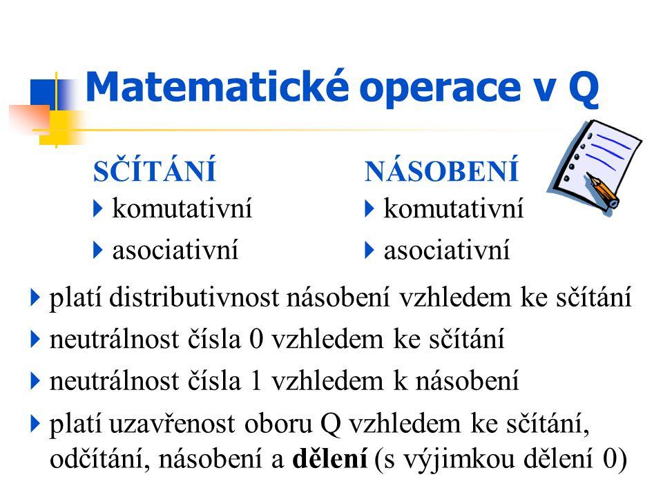 Matematické operace v Q