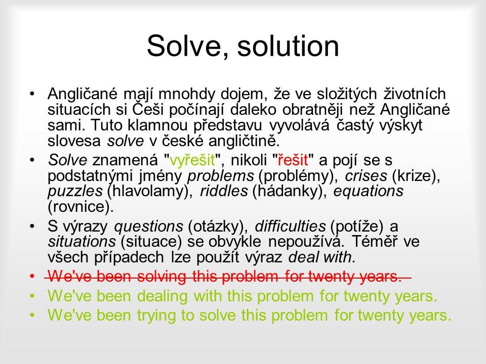 Solve, solution