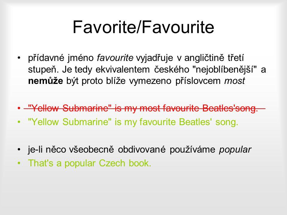 Favorite/Favourite