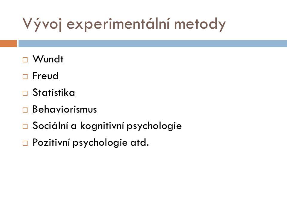 Vývoj experimentální metody