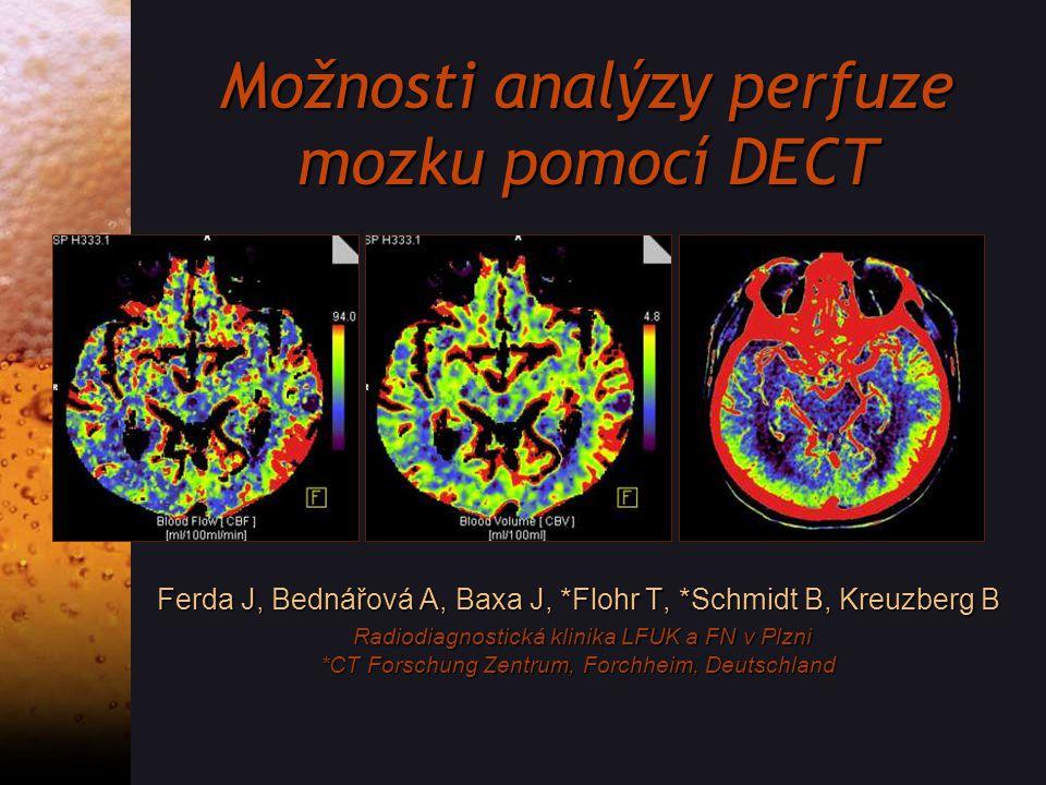Možnosti analýzy perfuze mozku pomocí DECT