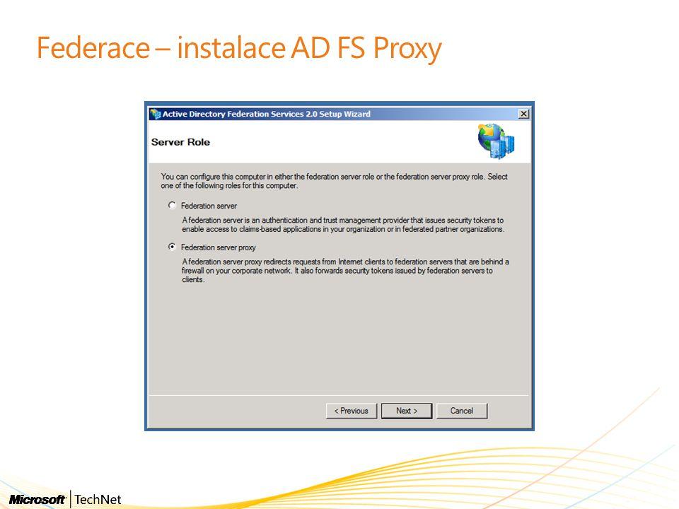 Federace – instalace AD FS Proxy
