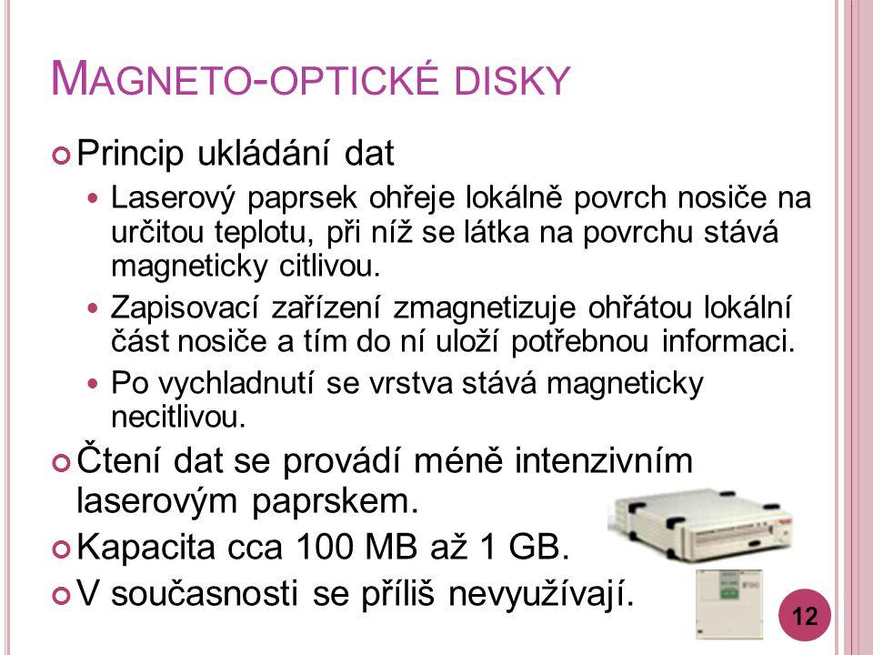 Magneto-optické disky