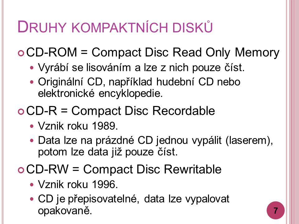 Druhy kompaktních disků