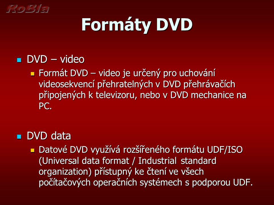 Formáty DVD DVD – video DVD data