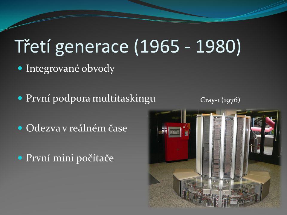 Třetí generace (1965 - 1980) Integrované obvody