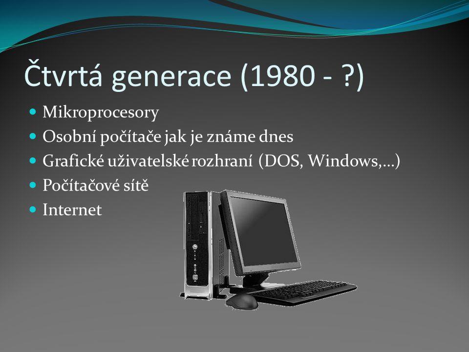 Čtvrtá generace (1980 - ) Mikroprocesory