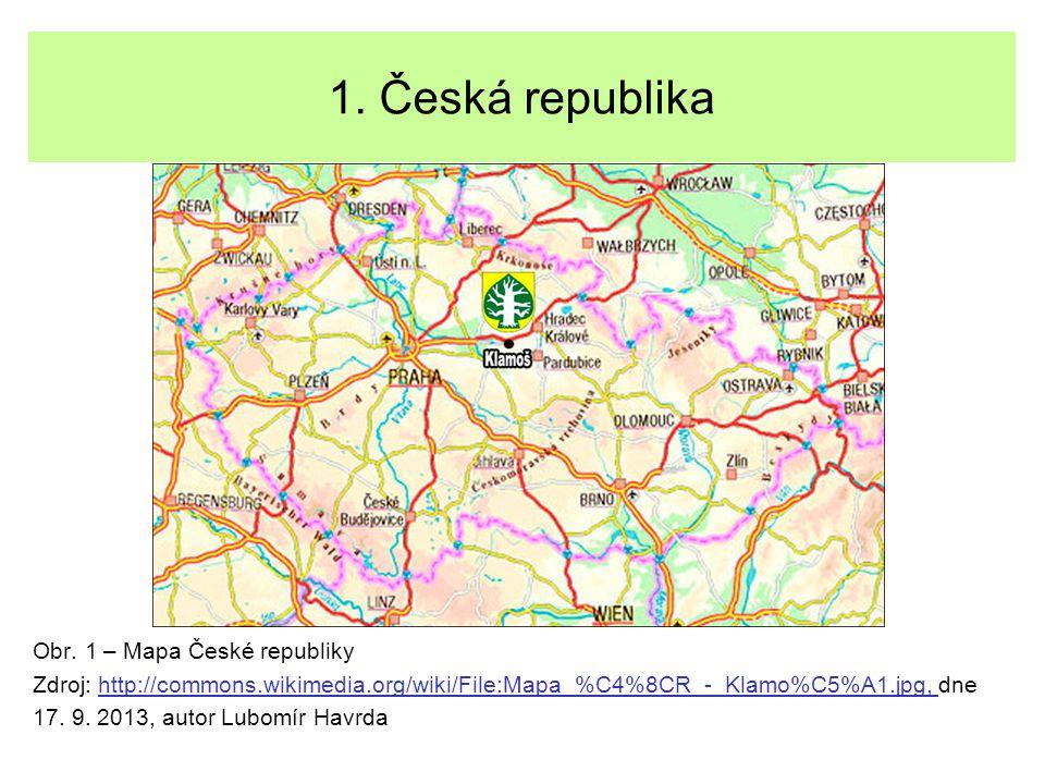 1. Česká republika Obr. 1 – Mapa České republiky