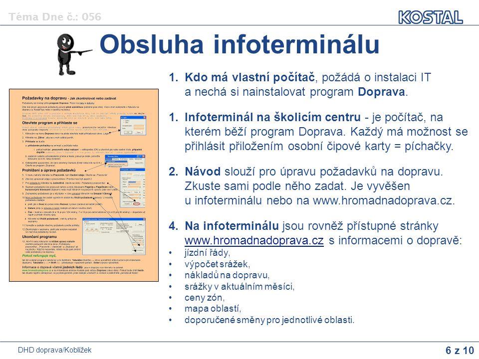 Obsluha infoterminálu
