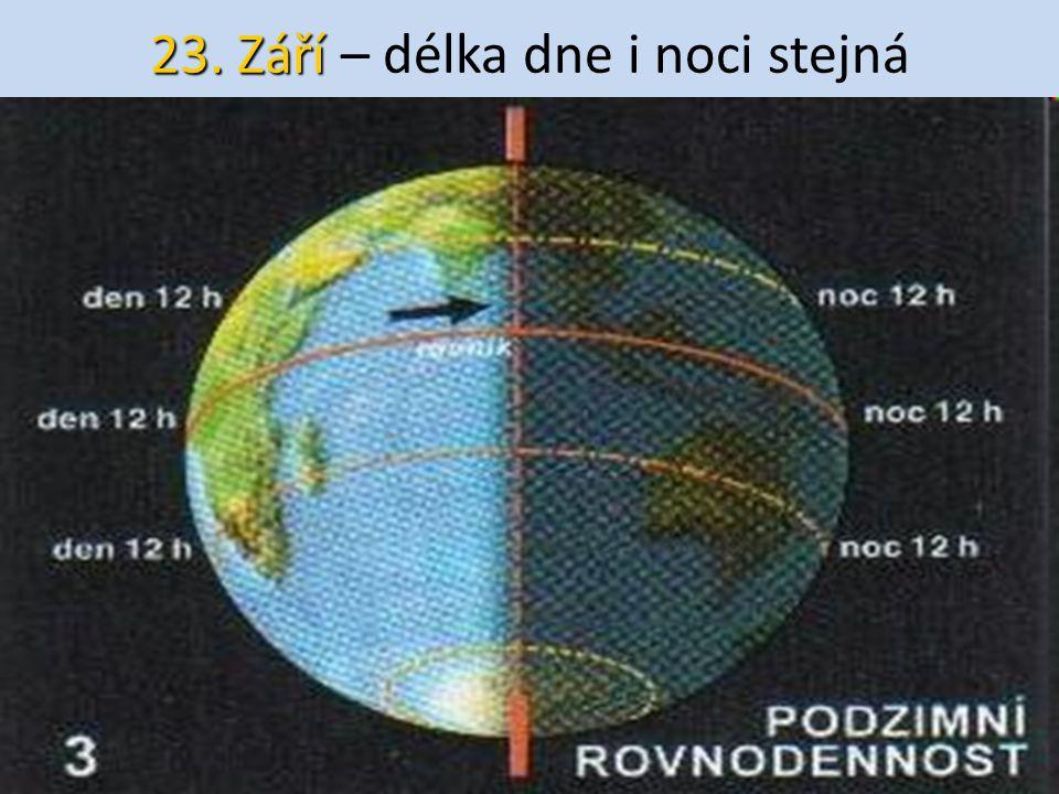 23. Září – délka dne i noci stejná