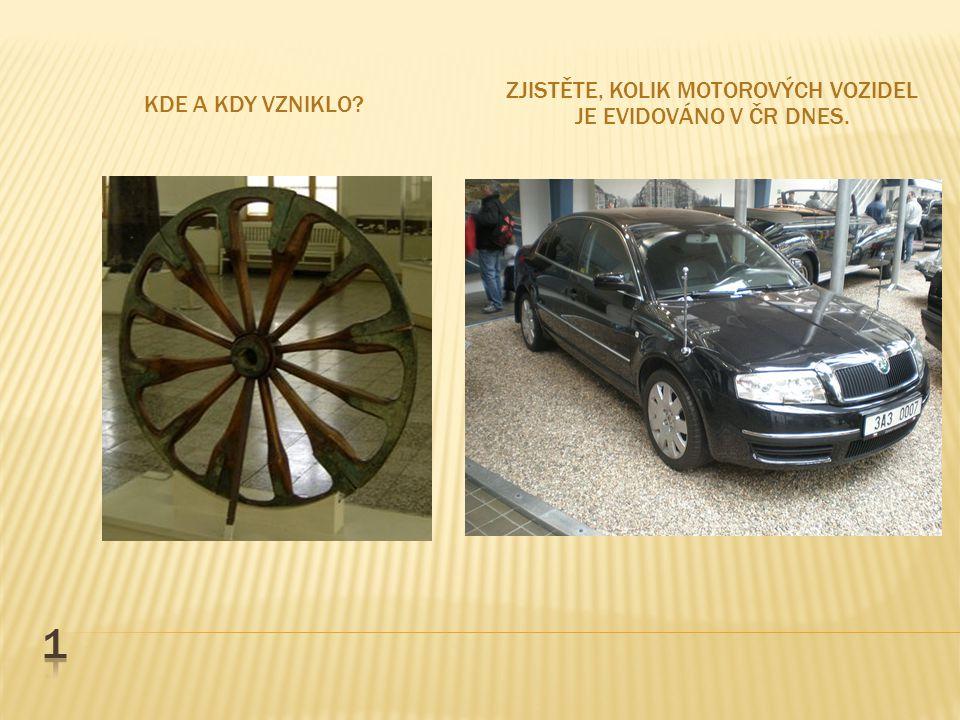 Zjistěte, kolik motorových vozidel je evidováno v čr dnes.