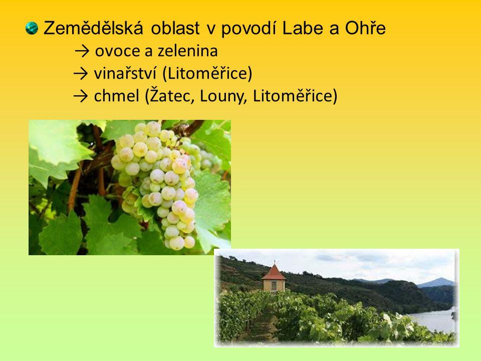 Zemědělská oblast v povodí Labe a Ohře