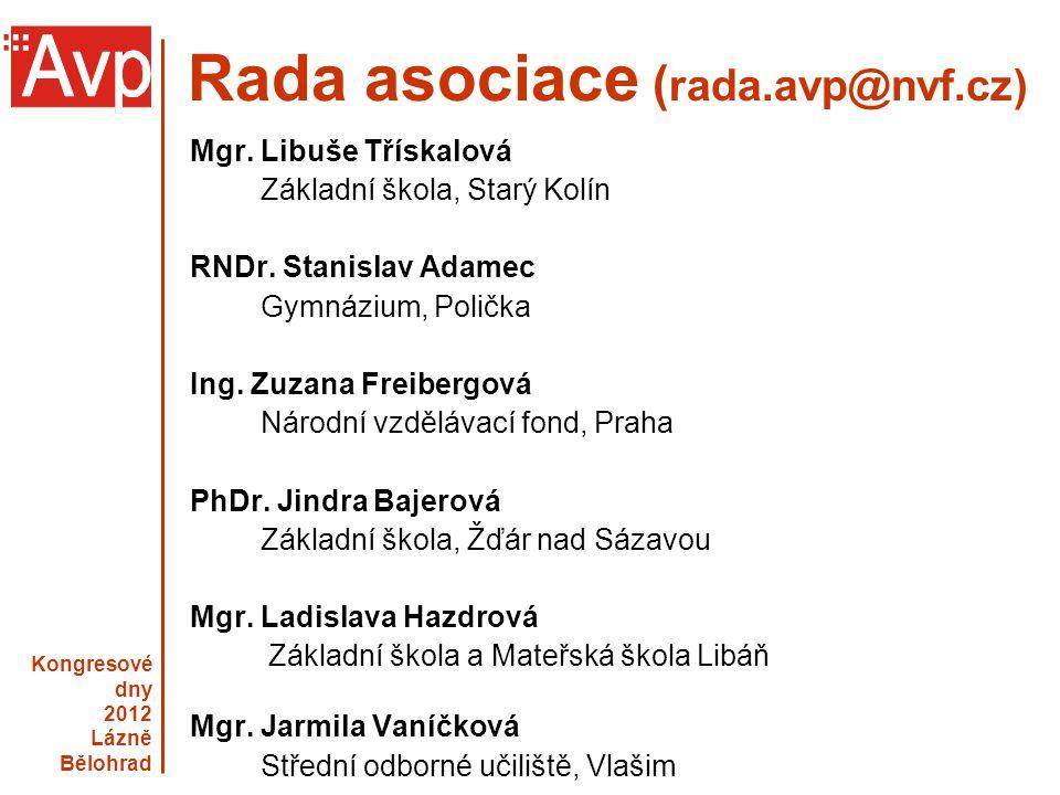 Rada asociace (rada.avp@nvf.cz)