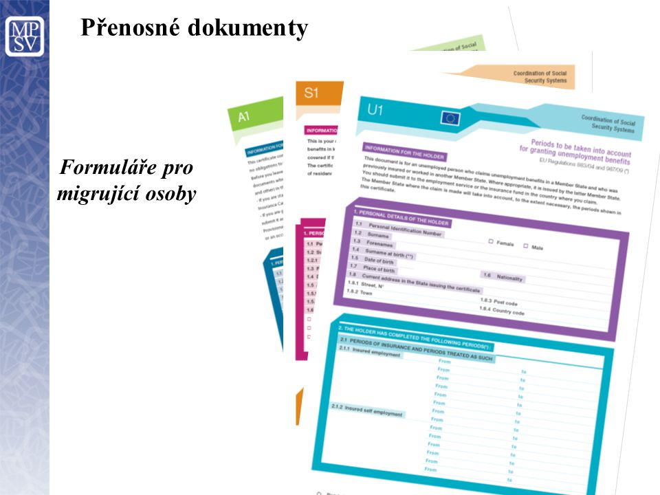 Formuláře pro migrující osoby
