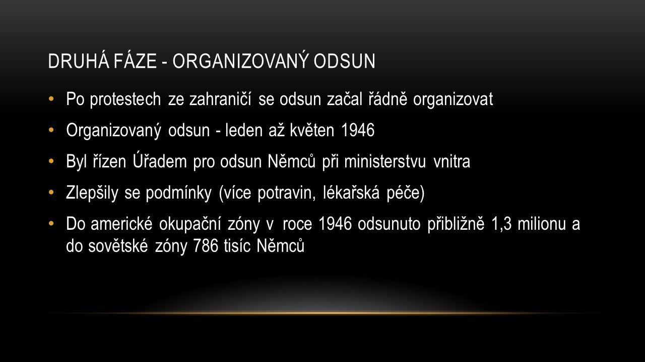 Druhá fáze - Organizovaný odsun