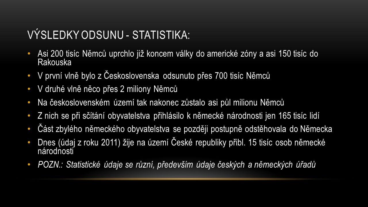 Výsledky odsunu - statistika: