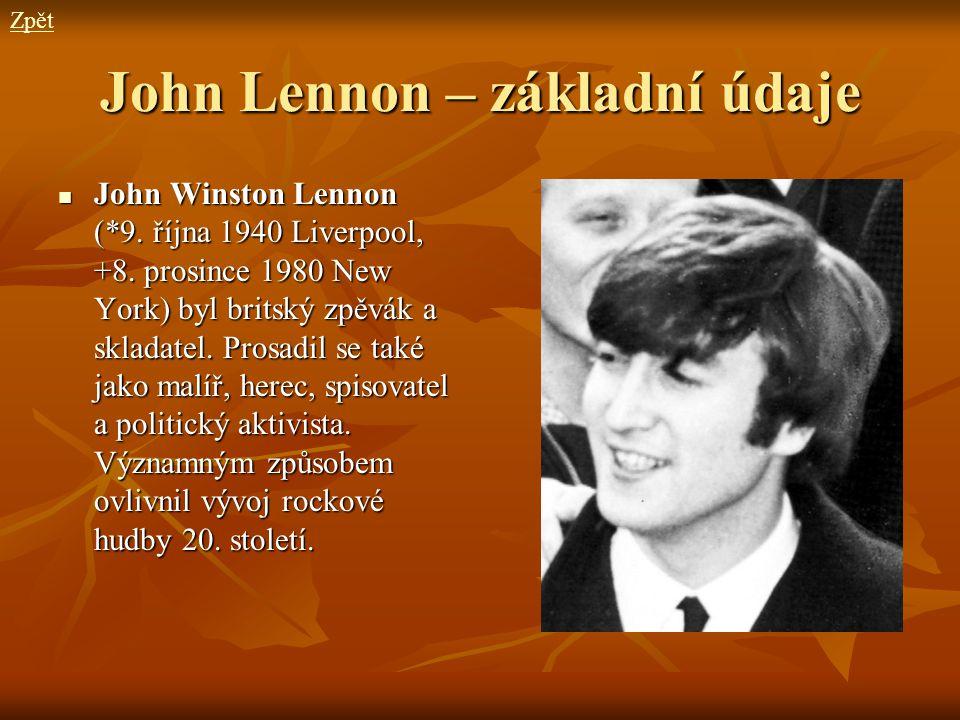 John Lennon – základní údaje