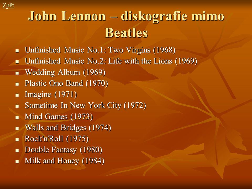 John Lennon – diskografie mimo Beatles
