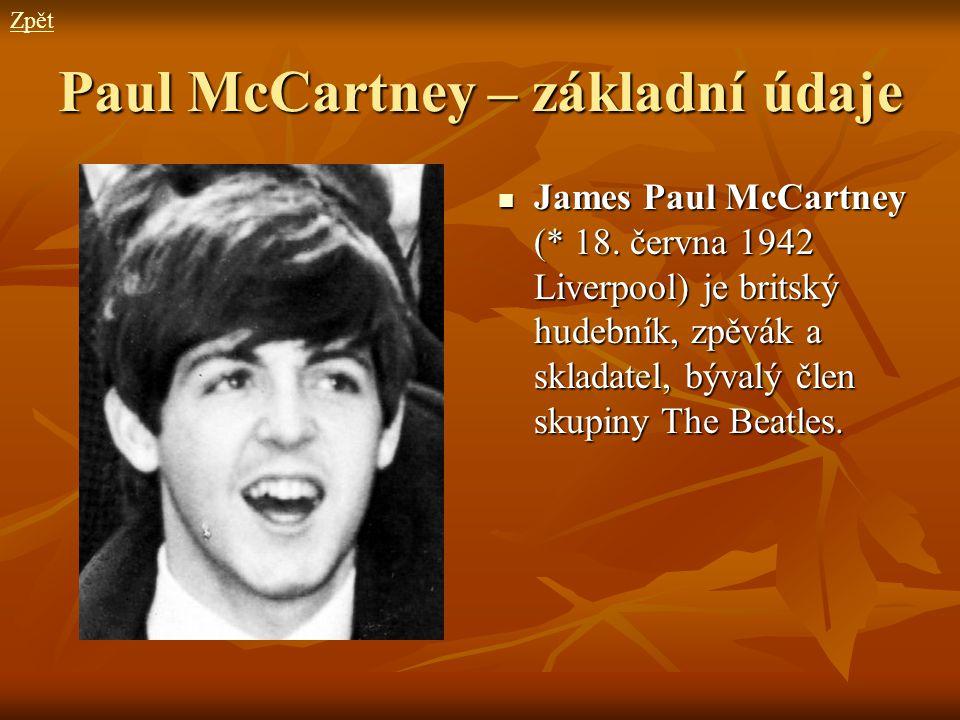 Paul McCartney – základní údaje