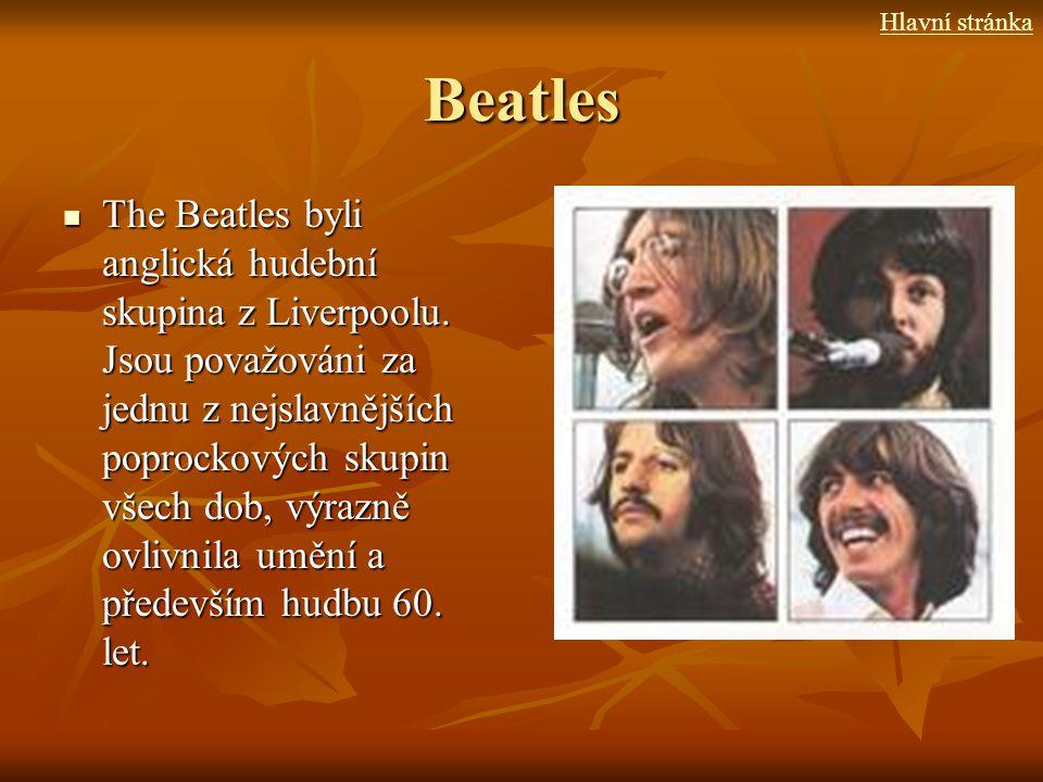 Hlavní stránka Beatles.