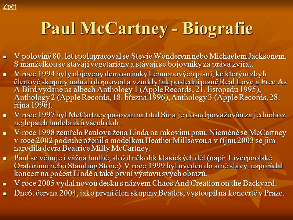 Paul McCartney - Biografie
