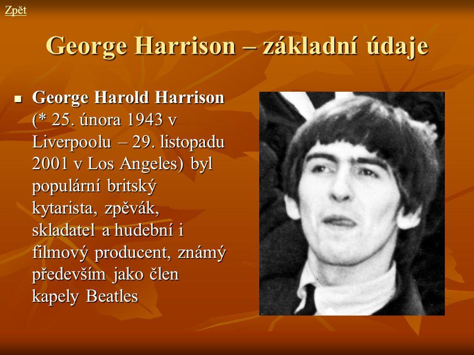 George Harrison – základní údaje