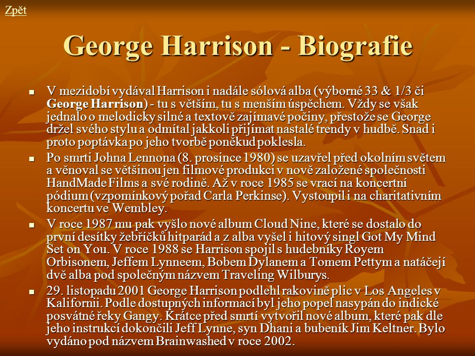 George Harrison - Biografie