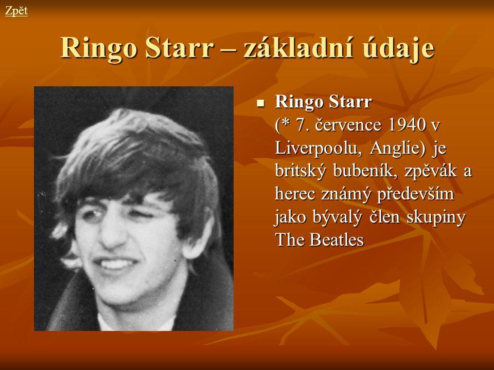 Ringo Starr – základní údaje