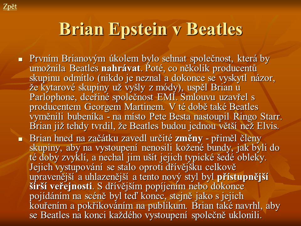 Brian Epstein v Beatles
