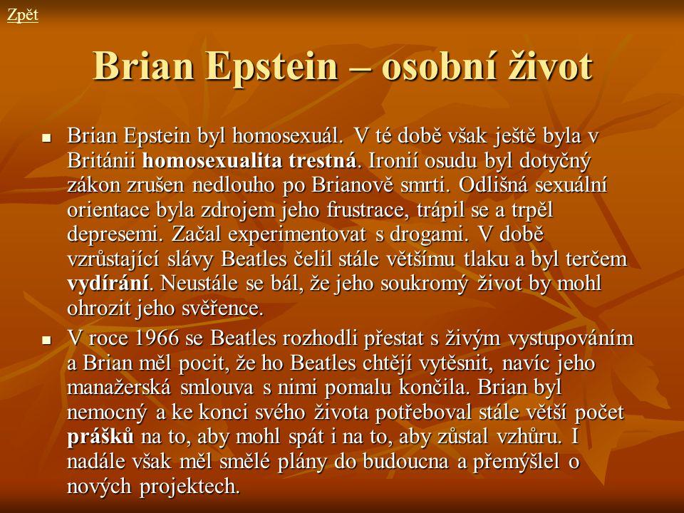 Brian Epstein – osobní život