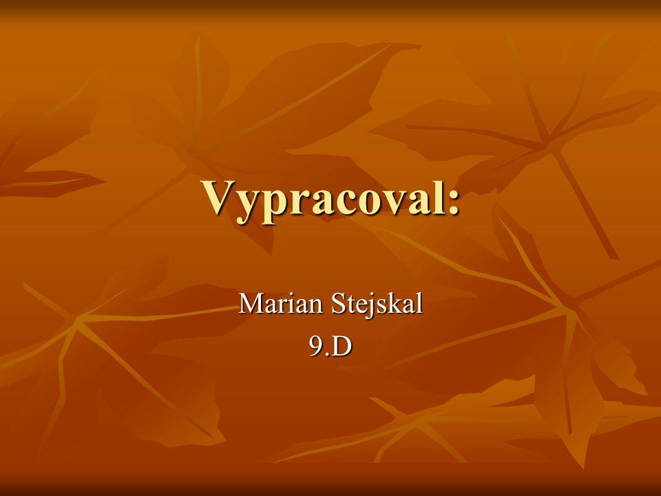 Vypracoval: Marian Stejskal 9.D