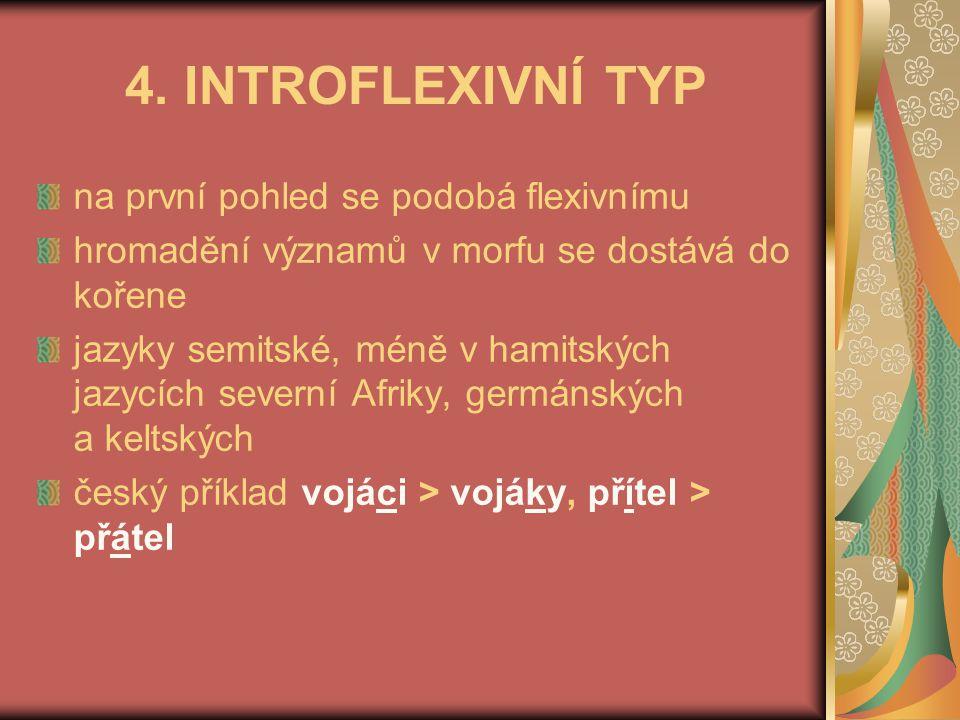 4. INTROFLEXIVNÍ TYP na první pohled se podobá flexivnímu