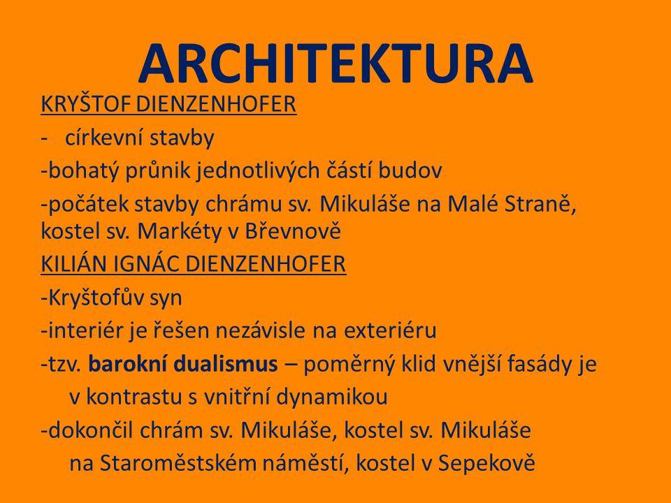 ARCHITEKTURA KRYŠTOF DIENZENHOFER - církevní stavby