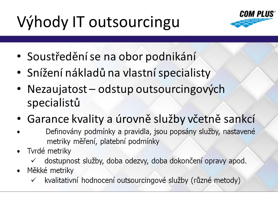 Výhody IT outsourcingu