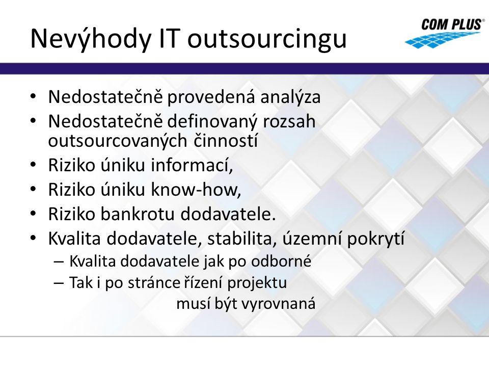 Nevýhody IT outsourcingu