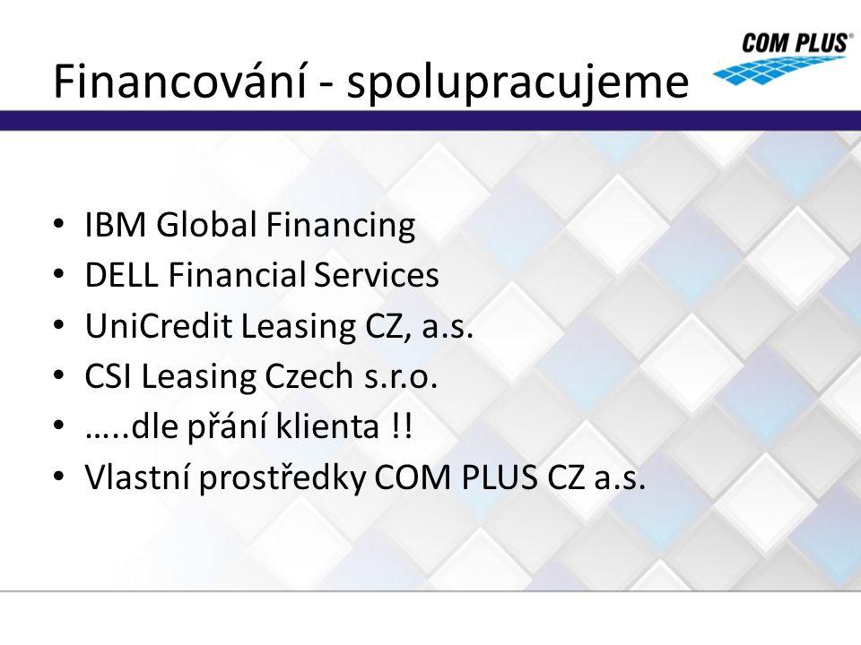 Financování - spolupracujeme