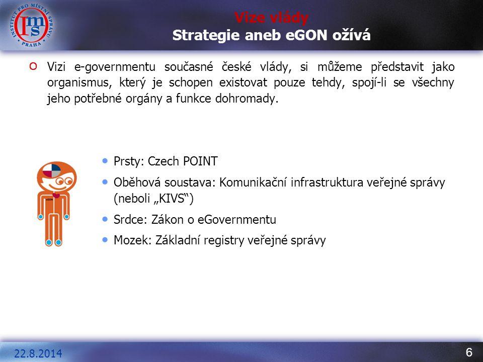 Vize vlády Strategie aneb eGON ožívá