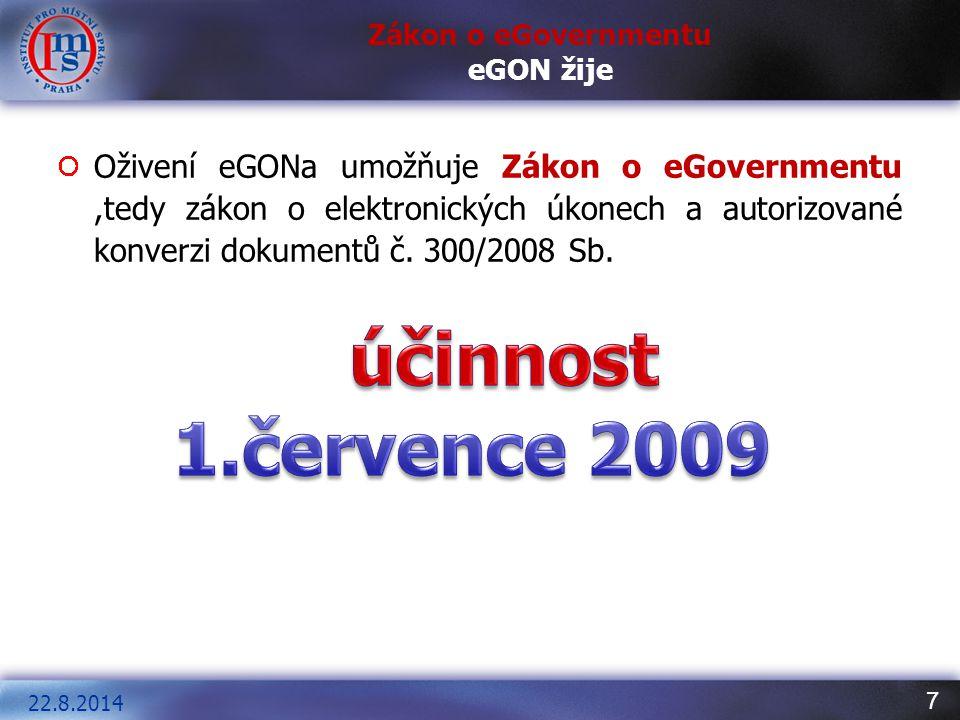 Zákon o eGovernmentu eGON žije