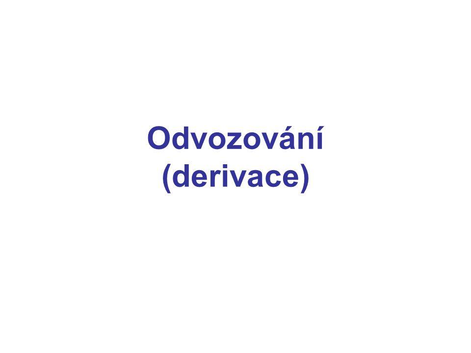 Odvozování (derivace)