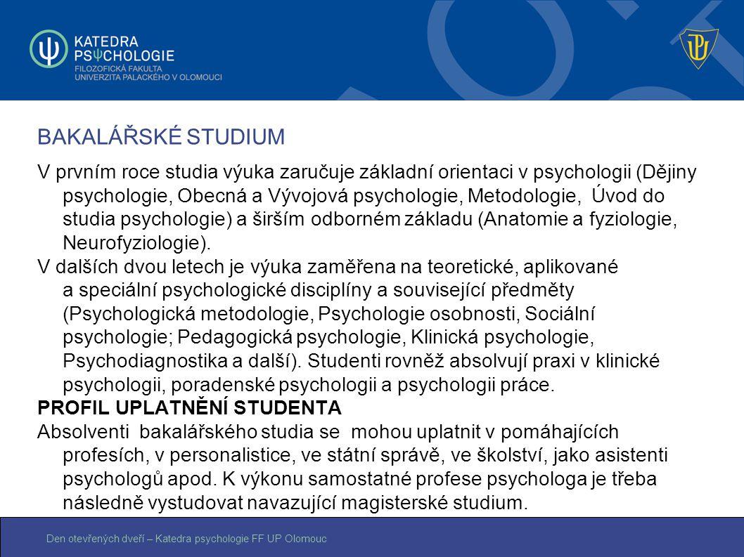 BAKALÁŘSKÉ STUDIUM