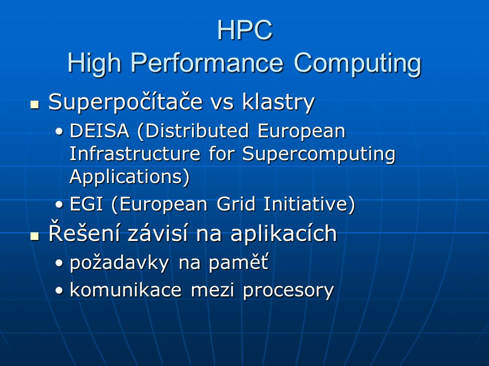 HPC High Performance Computing