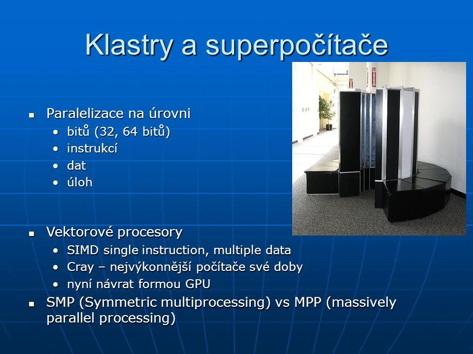 Klastry a superpočítače