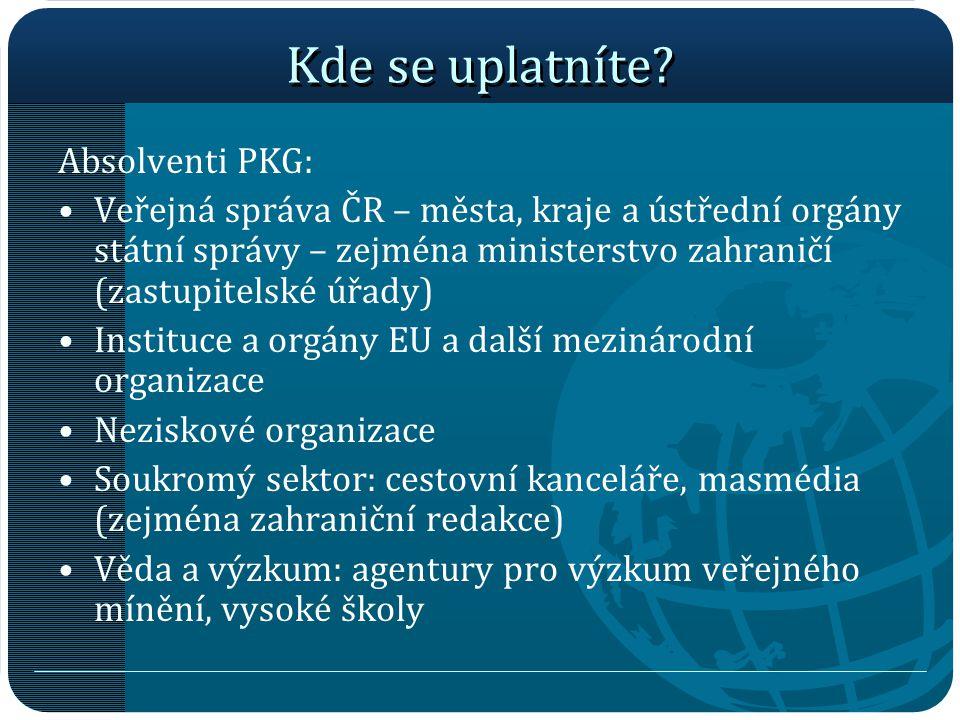 Kde se uplatníte Absolventi PKG: