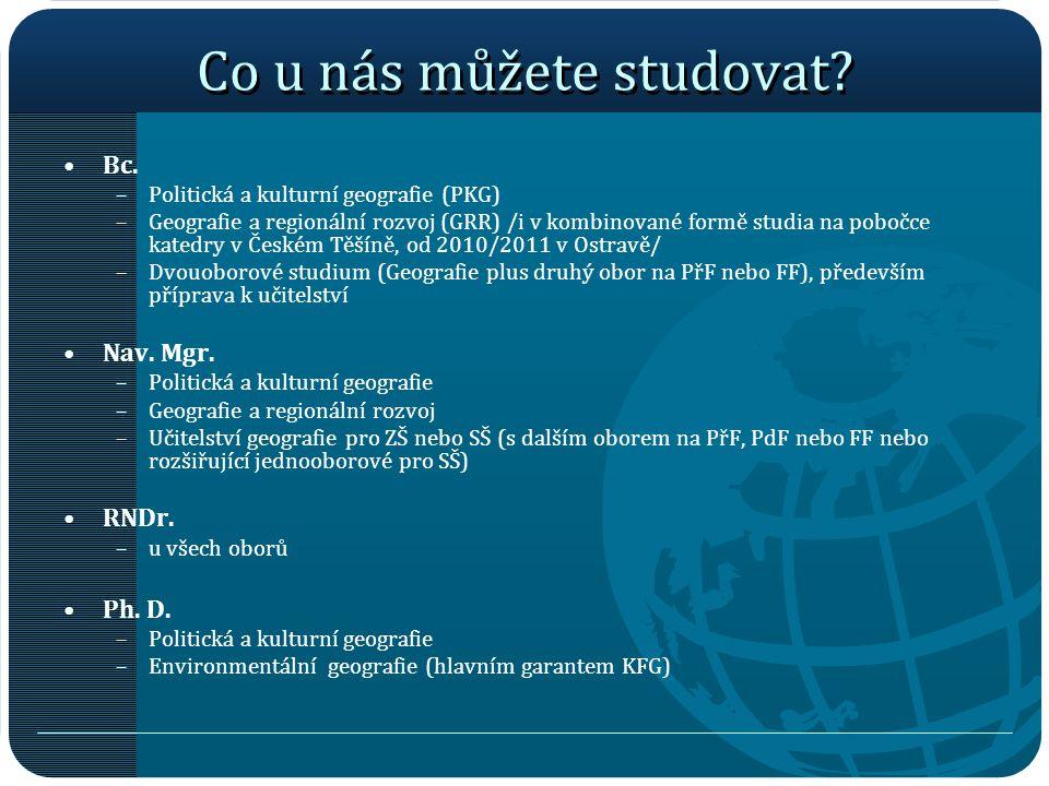 Co u nás můžete studovat