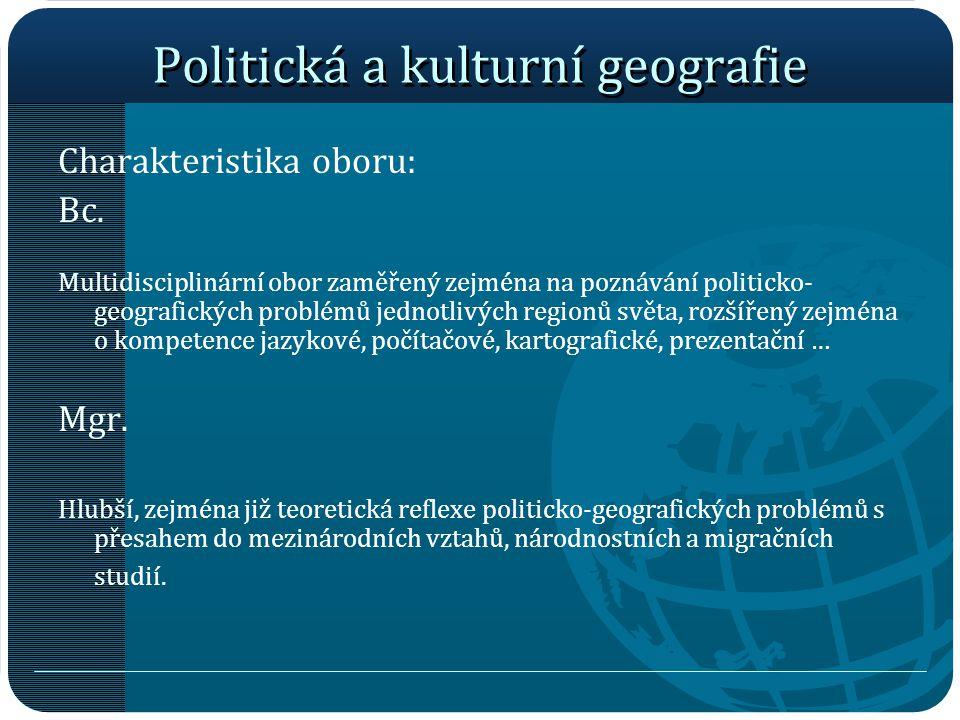 Politická a kulturní geografie
