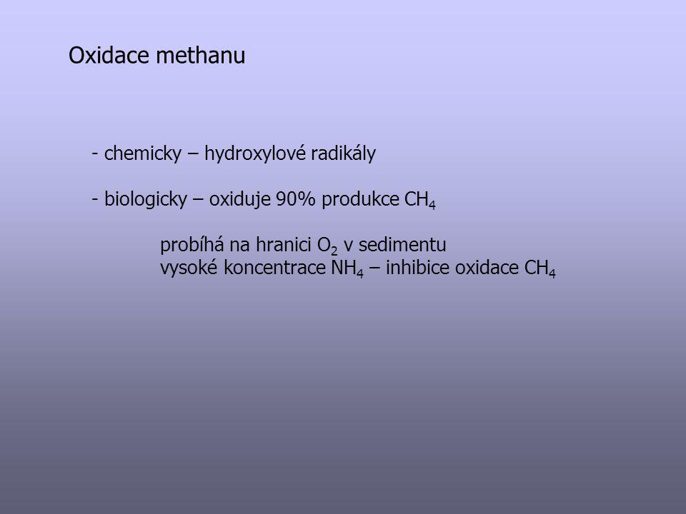 Oxidace methanu chemicky – hydroxylové radikály