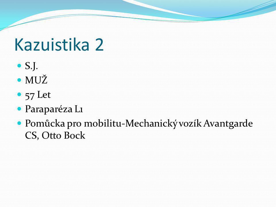Kazuistika 2 S.J. MUŽ 57 Let Paraparéza L1