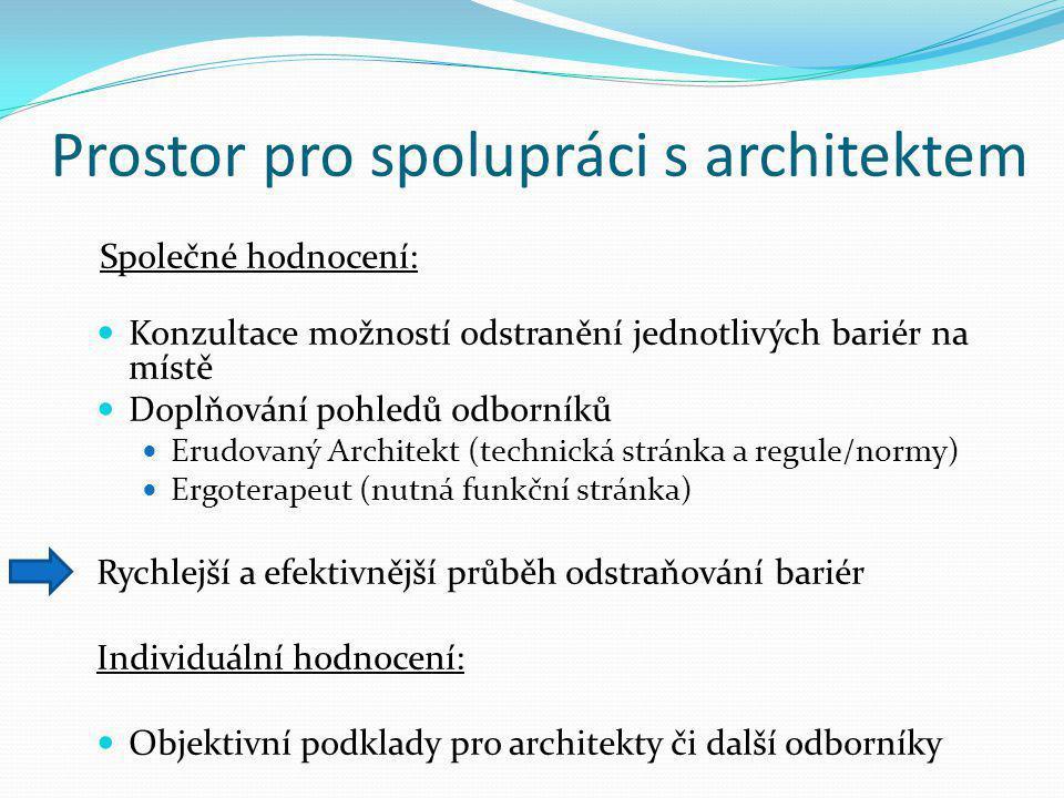 Prostor pro spolupráci s architektem